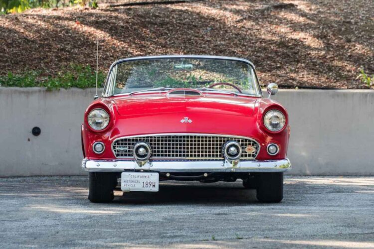 Front of 1955 Ford Thunderbird