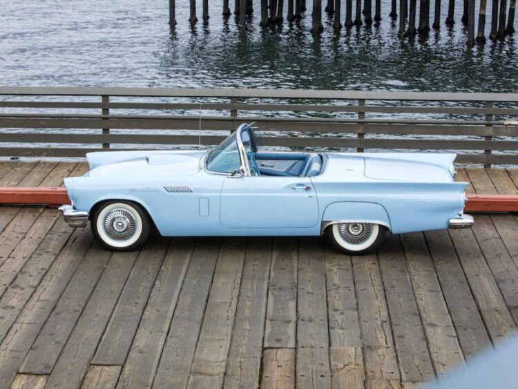 side of 1957 Ford Thunderbird
