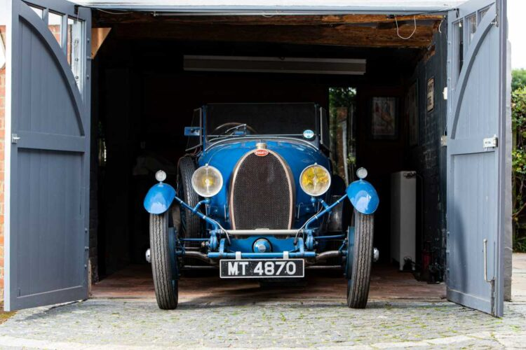 front of 1929 Bugatti Type 40 Grand Sports Open Tourer