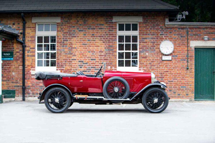 side of 1924 Vauxhall 30-98 OE Velox Tourer