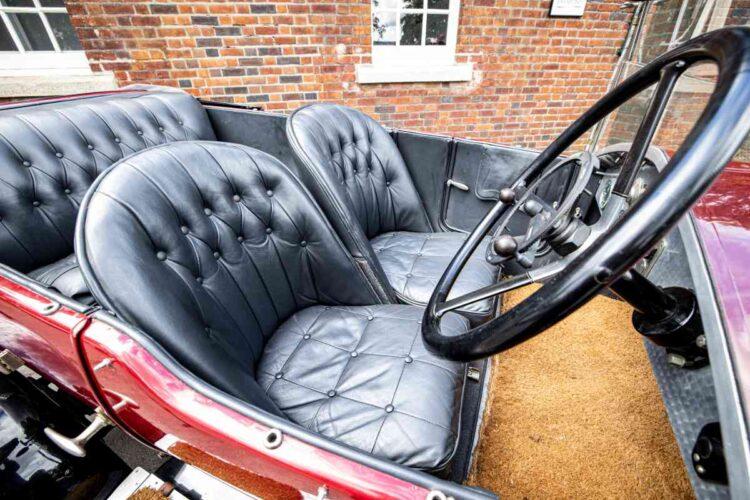 interior of1924 Vauxhall 30-98 OE Velox Tourer
