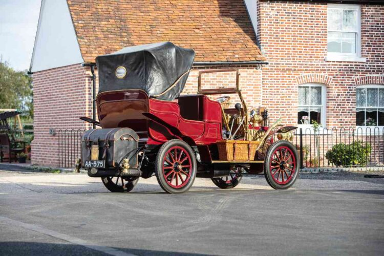 rear of 1903 Thornycroft 20hp 4-cylinder Double Phaeton