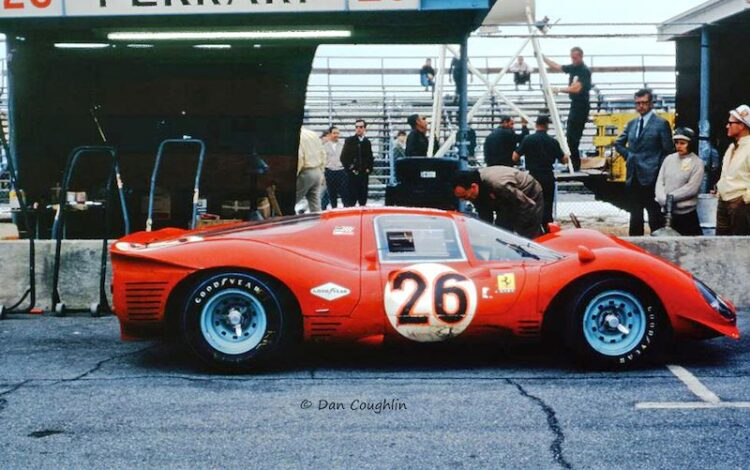 Ferrari 412P finishes third in 1967 Daytona.