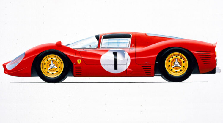 side profile of ferrari 330 p3