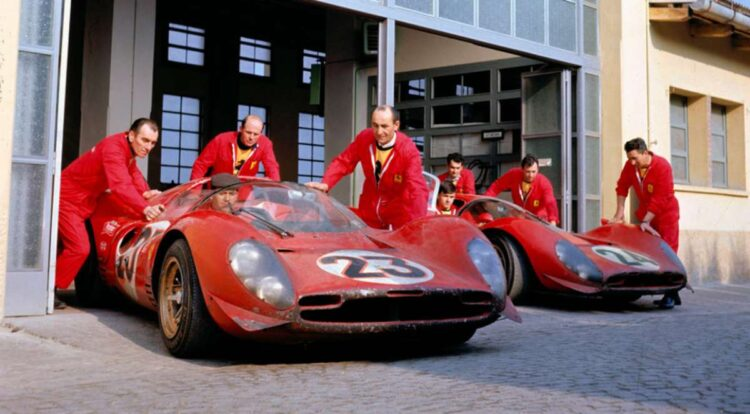 rolling out the Ferrari 330 P4