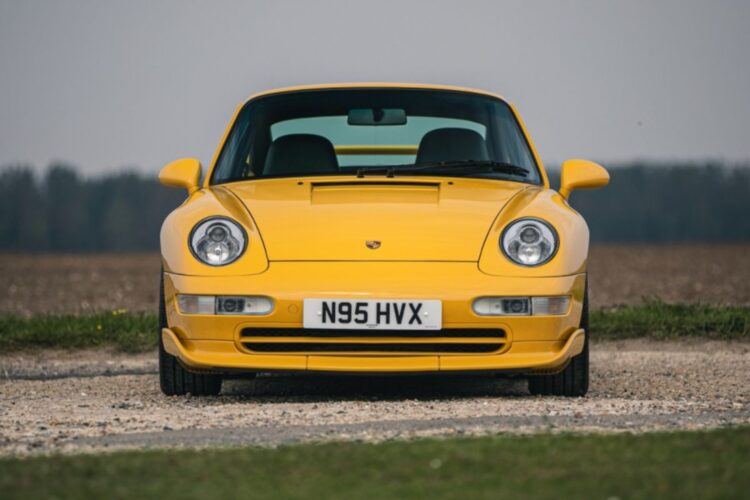 front of 1996 Porsche 911 (993) Carrera RS