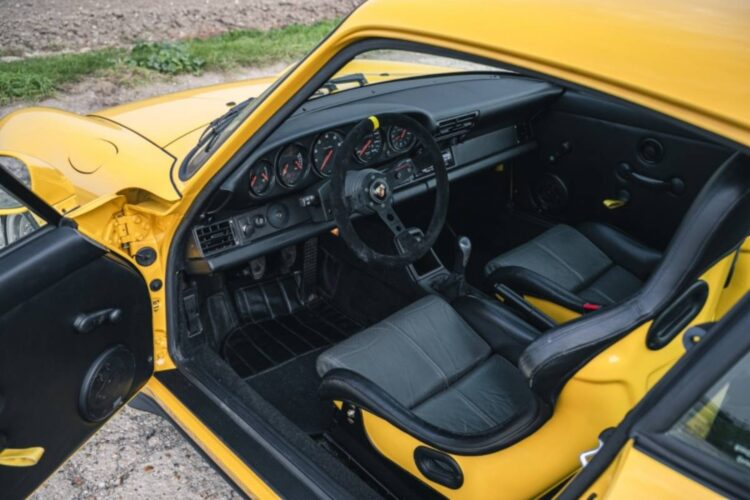 interior of 1996 Porsche 911 (993) Carrera RS