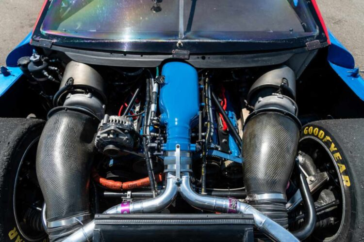 Engine of 1989 Nissan 300ZX Turbo IMSA GTO