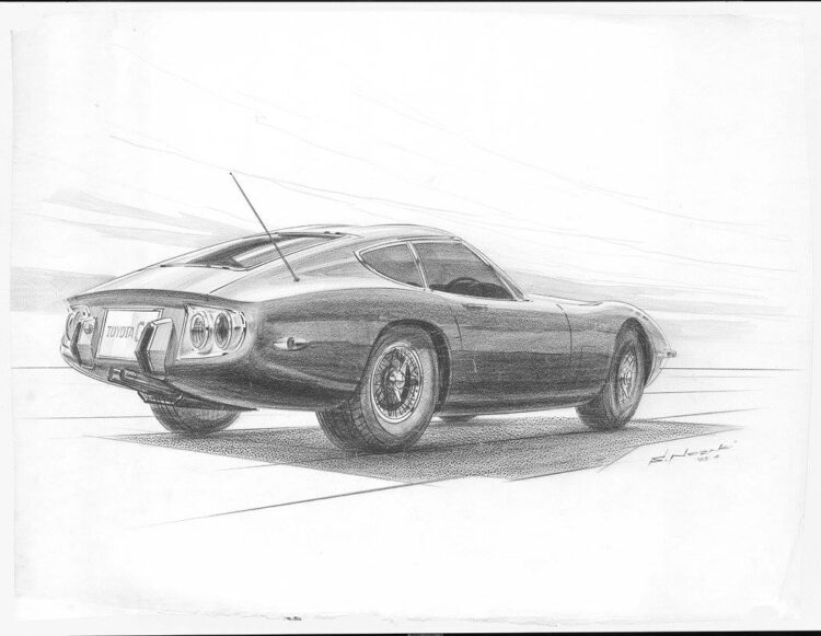 sketch of car