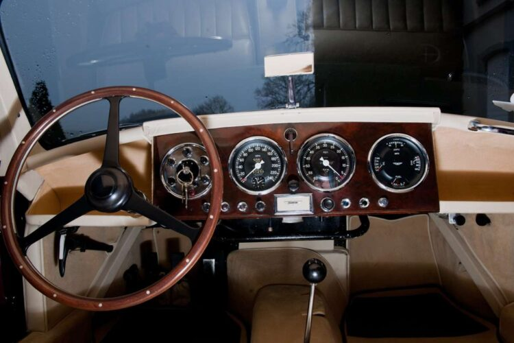 interior of 1955 Aston Martin DB2/4