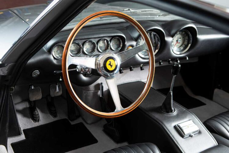 interior of 1963 Ferrari 250 GT Lusso Berlinetta