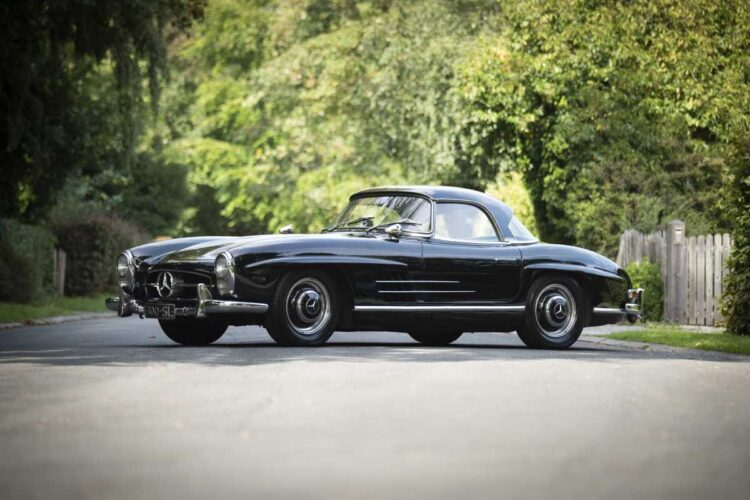 side of 1958 Mercedes-Benz 300 SL Roadster Bonhams Zoute Sale 2020