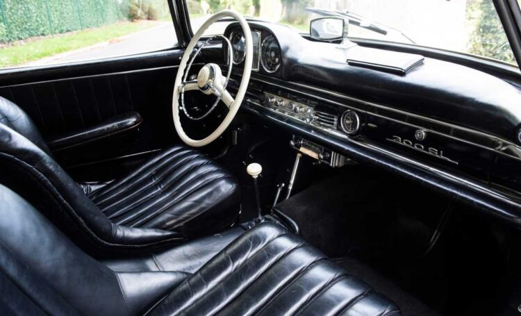interior of 1958 Mercedes-Benz 300 SL Roadster