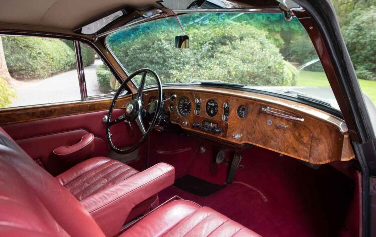 interior of 1956 Bentley S1 Continental Coupe