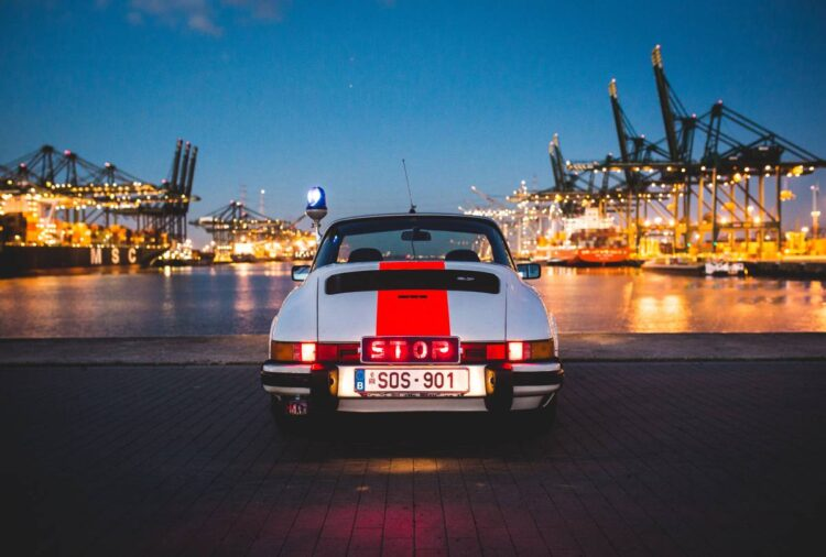 back of 1976 Porsche 911 Carrera 2.7 MFI Targa
