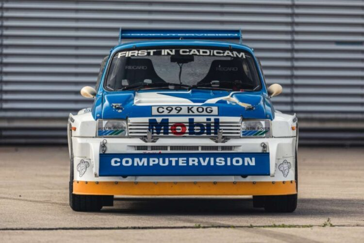 front of 1986 MG Metro 6R4 ex-Works