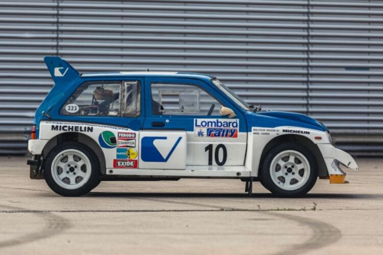 side of 1986 MG Metro 6R4 ex-Works