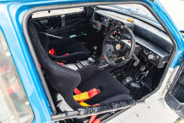 interior of 1986 MG Metro 6R4 ex-Works