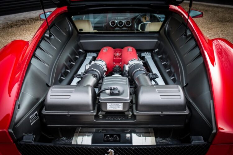 Engine of Ferrari F430