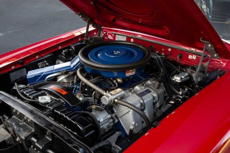 Engine of 1969 Ford Mustang Boss 429