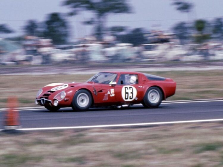 Alfa Romeo Giulia TZ2 finished 14th overall and 1st in class at Sebring in 1966