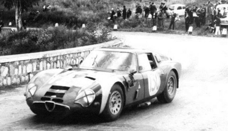 Alfa Romeo TZ2 finished 10th overall and 2nd in class at the Targa Florio in 1966