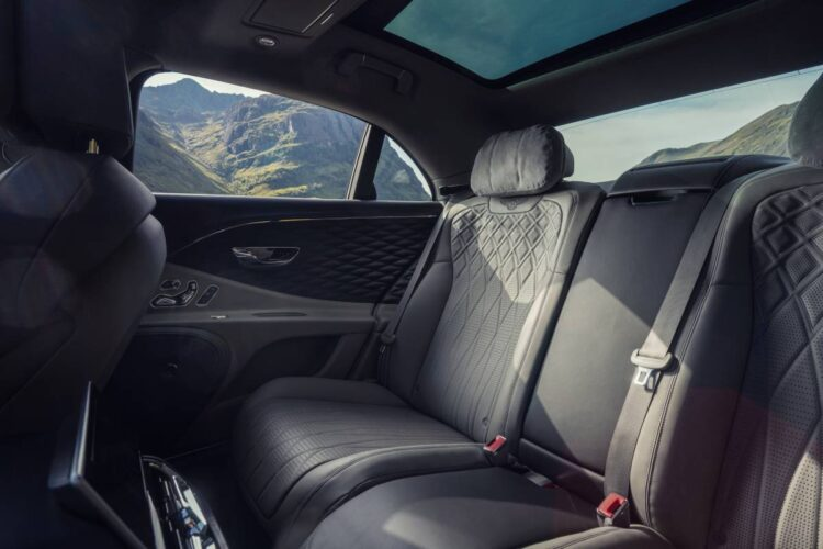 rear seat of the Bentley Flying Spur V8