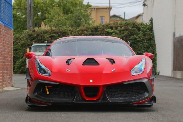 front of Ferrari 488 Challenge Evo