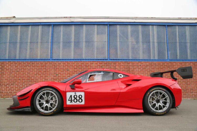 side profile of Ferrari 488 Challenge Evo