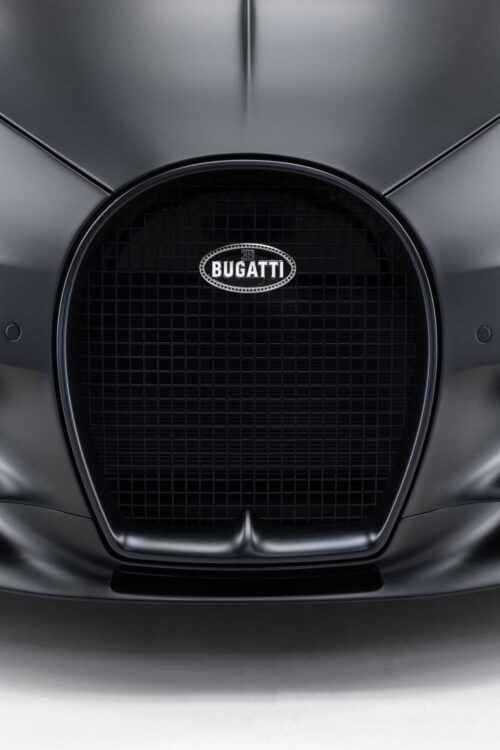 Bugatti emblem on the Chiron Noire