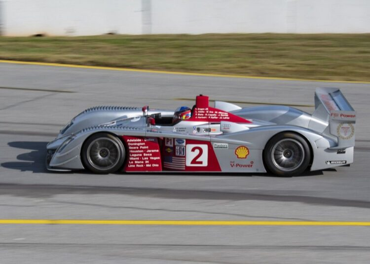 Travis Engen in his 2005 Audi R8 LMP1