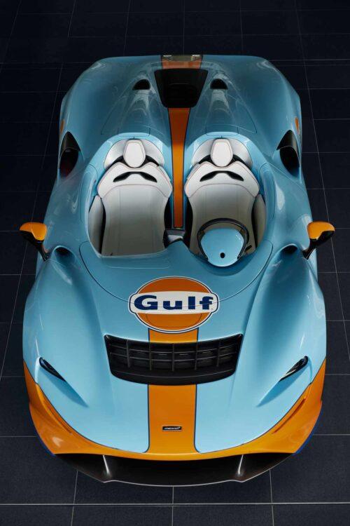 overhead of McLaren Elva Gulf Theme
