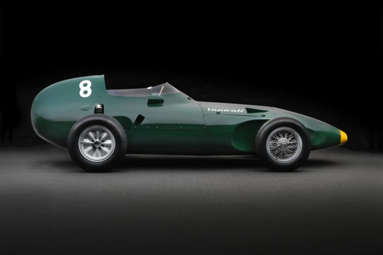 side profile of Vanwall Formula One Continuation Car