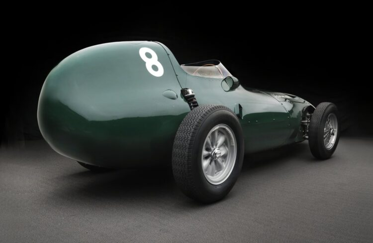 rear of Vanwall Formula One Continuation Car