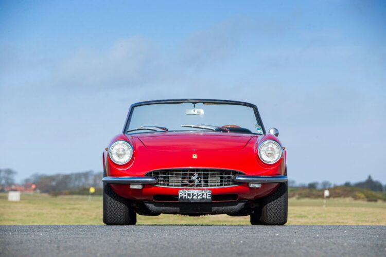 front of 1967 Ferrari 330 GTS