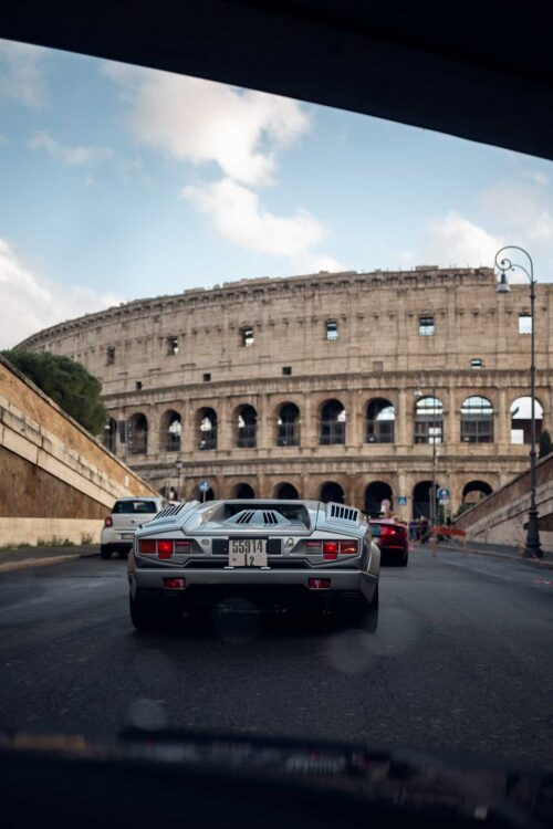 Rome and the 1990 Countach 25th Anniversary