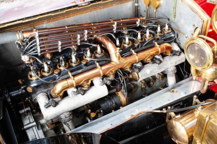 Moteur de 1911 Rolls-Royce 40 / 50ch Silver Ghost Tulip-Backed semi-ouvert traction Pullman Limousine