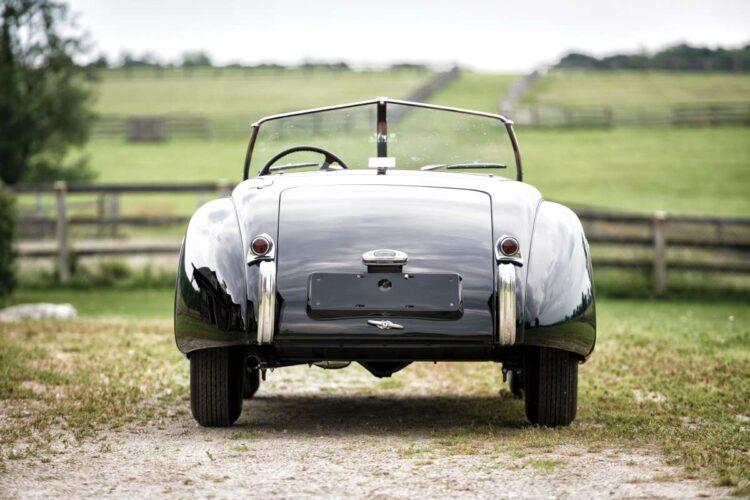 rear of 1950 Jaguar XK 120 Alloy Roadster
