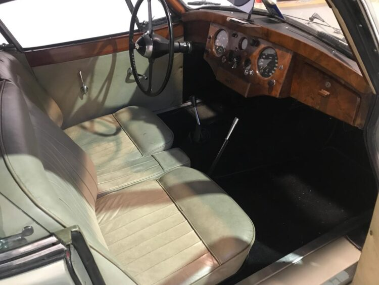 interior of 1953 Jaguar XK 120 Fixed Head Coupé