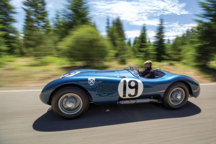 side of 1953 Jaguar C-Type Works Lightweight