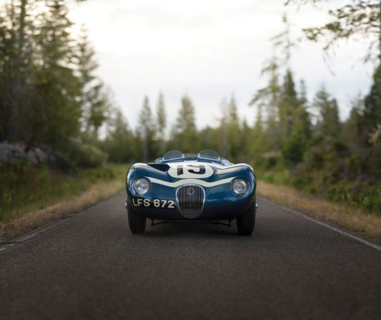 front of 1953 Jaguar C-Type Works Lightweight