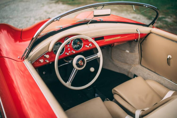 interior of 1955 Porsche 356 Carrera 1500 GS Speedster