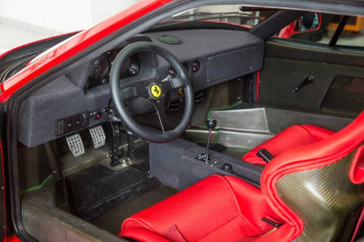 interior of 1990 Ferrari F40