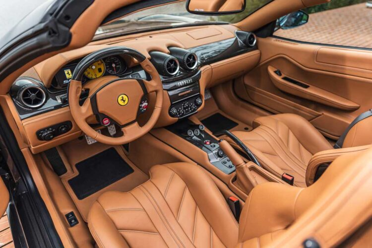 interior of 2011 Ferrari 599 SA Aperta