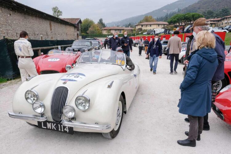 Nigel Atherstone and Gregory Parton in the 1951 Jaguar XK120