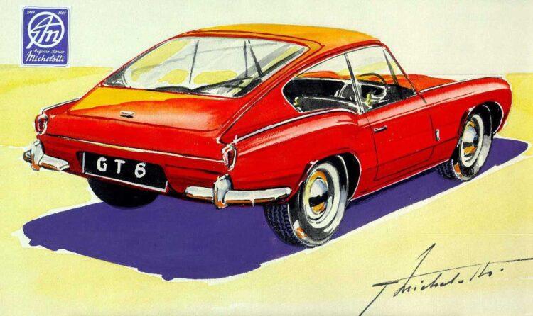 Sketch by Giovanni Michelotti of Triumph GT6