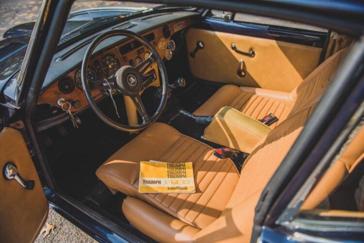 1970 MK II Triumph GT6 interior