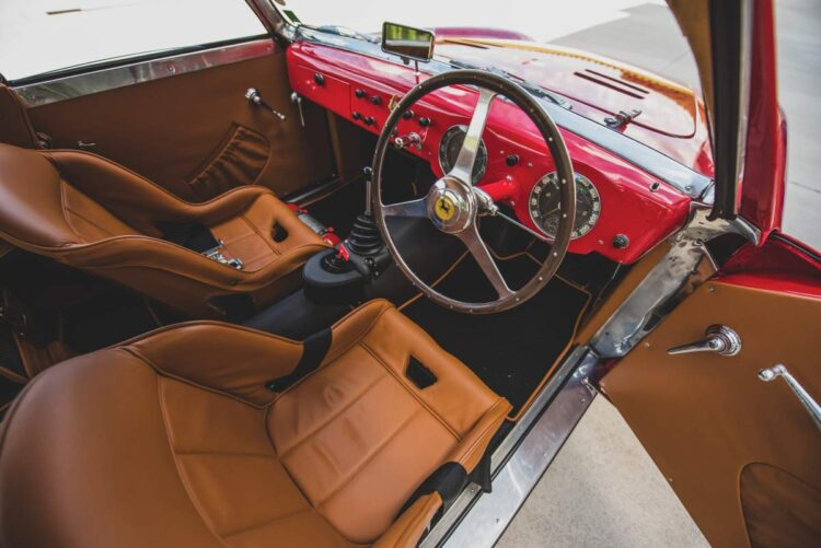 interior of 1952 Ferrari 225 S Berlinetta by Vignale