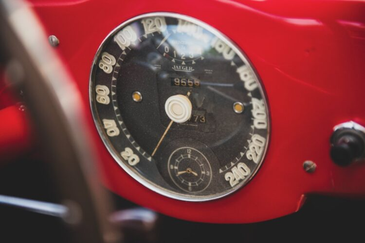 dashboard of 1952 Ferrari 225 S Berlinetta by Vignale