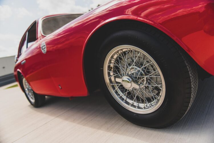 wheels of 1952 Ferrari 225 S Berlinetta by Vignale